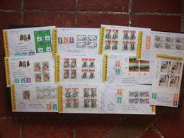 France 1995 - Lot De 48 Lettres Recommandées Avec Timbres De L'année 1995 Blocs De 4 - Zonder Classificatie