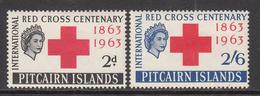 1963 Pitcairn Red Cross Health   Complete Set Of  2 MNH - Pitcairn Islands