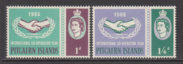 1965 Pitcairn ICY Cooperation   Complete Set Of  2 MNH - Pitcairn Islands