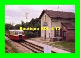 AL 350 - Autorail Billard X 244 Quittant La Halte De JUSCOP  Commune D'ARGY - Indre - BA - France