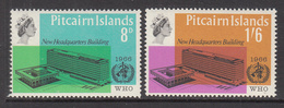 1966 Pitcairn WHO Health Complete Set Of  2 MNH - Pitcairn Islands