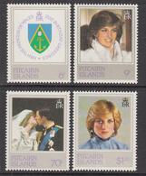 1982 Pitcairn Royal Wedding Diana  Complete Set Of  4 MNH - Pitcairn Islands