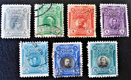 SERIE COURANTE 1909 - OBLITERES - YT 142/45 + 147 + 179 + 181 - Peru