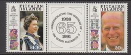 1991 Pitcairn QEII Birthdays Complete Set Of  2 MNH - Pitcairn Islands