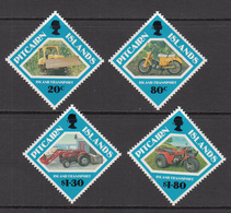 1991 Pitcairn Island Transport Bulldozer Excavator Motorcycle Tractor Complete Set Of  4 MNH - Pitcairn Islands