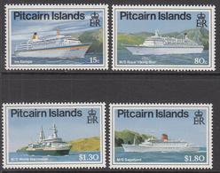 1991 Pitcairn Island Cruise Ships Complete Set Of  4 MNH - Pitcairn Islands