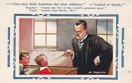 Illustrateur TAYLOR Citez Moi Deux Hommes Des Plus Célèbres : Laurel Et Hardy - Humour Instituteur élèves - Taylor