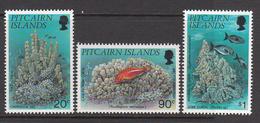 1994 Pitcairn Island Corals Fish Marine Life Complete Set Of  3 MNH - Pitcairn Islands