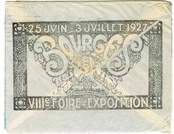 ILLUSTRATION VIIIE FOIRE EXPO 1927 BOURGES SUR ENVELOPPE OUVERTE SUR 3 COTES - Marcofilia (sobres)