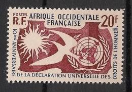 AOF - 1958 - N°Yv. 74 - Droits De L'homme - Neuf Luxe ** / MNH / Postfrisch - A.O.F. (1934-1959)