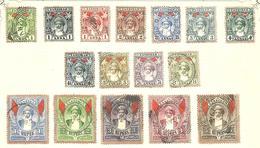 Série De 1899  -N° 53 à 69 Obl.sur Fragment De  Page Avec Charnière - Zanzibar (1963-1968)