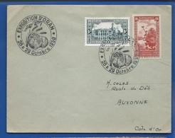 Enveloppe Affranchissement Multiple  Oblitération: Exposition D'ORAN 28*29 Octobre 1950 - Algerien (1924-1962)