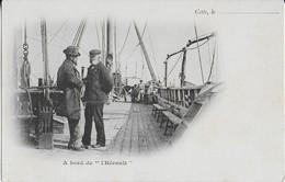 """SETE : A """" Bord De L'Hérault """"-Discussion Sur Le Pont. - Sete (Cette)"""