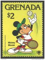 460 Grenada Disney $2.00 Mickey Balle Ball Tennis Raquette Racket MNH ** Neuf SC (GRE-186a) - Grenada (1974-...)