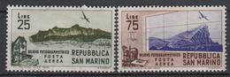 SAN MARINO - Michel - 1952 - Nr 491/92 - MH* - Poste Aérienne