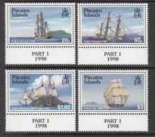 1998 Pitcairn Island Ships Complete Set Of 4 MNH - Pitcairn Islands