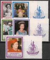 Vanuatu - 1986 - N°Yv. 735 à 739 - Queen Elisabeth II - Neuf Luxe ** / MNH / Postfrisch - Vanuatu (1980-...)