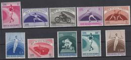 SAN MARINO - Michel - 1954 - Nr 513/22 - MH* - Saint-Marin