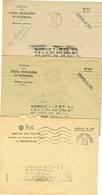 TROIS ENVELOPPES CHEQUES POSTAUX MARSEILLE - Poststempel (Briefe)