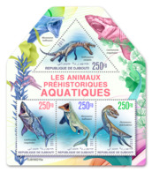 DJIBOUTI 2019 MNH Prehistoric Water Animals Wassersaurier Animaux Prehistoriques M/S - OFFICIAL ISSUE - DH1919 - Prehistorics