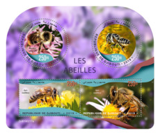 DJIBOUTI 2019 MNH Bees Bienen Abeilles M/S - OFFICIAL ISSUE - DH1919 - Abejas