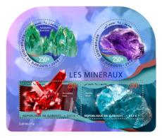 DJIBOUTI 2019 MNH Minerals Mineralien Mineraux M/S - IMPERFORATED - DH1919 - Minerals