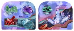 DJIBOUTI 2019 MNH Minerals Mineralien Mineraux M/S+S/S - IMPERFORATED - DH1919 - Minerals