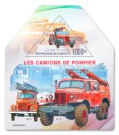 DJIBOUTI 2019 MNH Fire Engines Feuerwehr Fahrzeuge Camions De Pompiers S/S - IMPERFORATED - DH1919 - Sapeurs-Pompiers