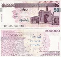 IRAN       500,000 Rials - Cheque       P-New      ND (ca. 2015)      UNC  [ Sign. Seif ] - [ 500000 ] - Iran