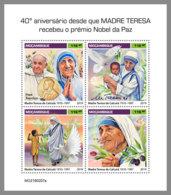 MOZAMBIQUE 2019 MNH Mother Teresa Mutter Teresa Mere Teresa Nobel Prize M/S - OFFICIAL ISSUE - DH1919 - Mère Teresa