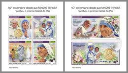 MOZAMBIQUE 2019 MNH Mother Teresa Mutter Teresa Mere Teresa Nobel Prize M/S+S/S - OFFICIAL ISSUE - DH1919 - Mère Teresa