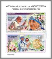 MOZAMBIQUE 2019 MNH Mother Teresa Mutter Teresa Mere Teresa Nobel Prize S/S - IMPERFORATED - DH1919 - Mère Teresa