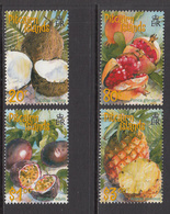 2001 Pitcairn Island  Tropical Fruit  Pineapple Coconut Complete Set Of 4 MNH - Pitcairn Islands