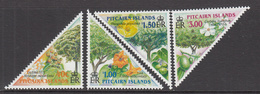 2002 Pitcairn Island  Trees Arbres Complete Set Of 4 MNH - Pitcairn Islands