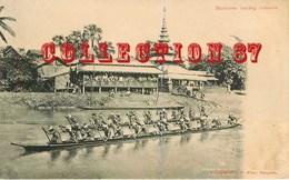 MYANMAR  BURMA ☺♥♥♥ RANGOON < YANGON - BURNESE RACING CANOES - BOATS < CANOE En BIRMANIE - P. KLIER - Myanmar (Burma)