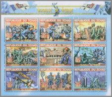 CHAD 2018 MNH Battle Of Verdun Schlacht Bei Verdun Bataille De Verdun M/S - IMPERFORATED - DH1919 - Guerre Mondiale (Première)