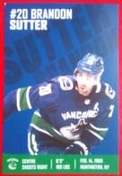 Vancouver  Brandon Sutter - 2000-Nu