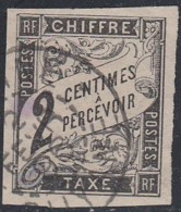 Colonies Générales - Timbre-taxe N° 2 (YT) N° 2 (AM) Oblitéré De Cayenne. - Taxes