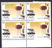 PGL DE0056 - ITALIA REPUBBLICA 2010 SASSONE N°3189 ** QUARTINA - 6. 1946-.. Repubblica