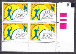 PGL DE0076 - ITALIA REPUBBLICA 2010 SASSONE N°3200 ** QUARTINA - 6. 1946-.. Repubblica