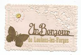 TRES BELLE CPA - UN BONJOUR DE LOULANS LES FORGES - Altri Comuni