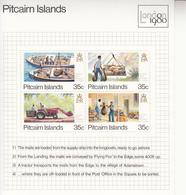 1980 Pitcairn Island Island Mail Tractor Ships Complete Set Of 1 Souvenir Sheet  MNH - Pitcairn Islands