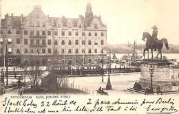 Stockholm - Karl Johans Torg (animation Tram Tramway 1904) - Suède