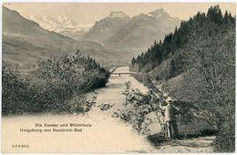 """CPA Suisse Schweiz Bern Die Kander Und Blümlisalp  """"1900"""" ETAT SUPERBE - BE Berne"""