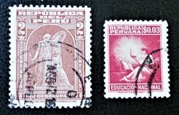 SURTAXE 1938 YT 355 + TIMBRE DE BIENFAISANCE 1950 - OBLITERE - YT 1 - Peru