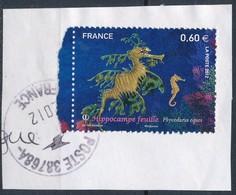 France - Hippocampe Feuille YT 4647obl. Cachet Rond Sur Fragment - Oblitérés