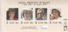 1998 Pitcairn Island Diana Princess Semi-postal Complete Set Of 1 Souvenir Sheet  MNH - Pitcairn Islands