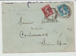 FRANCE 1926: BEL AFFRANCHISSEMENT Au Tarif De Paris Pour Coulommiers TB - Marcophilie (Lettres)
