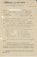 Convocation Pour Le Service Du Travail Obligatoire - S.T.O. 1944 Rodez - Documents