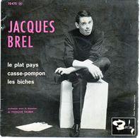 Pochette Sans Disque - Jacques Brel - Le Plat Pays - Barclay 70475 - 1962 - Accessoires, Pochettes & Cartons